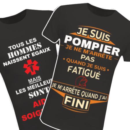 Retrouvez tous nos T-shirts Métiers