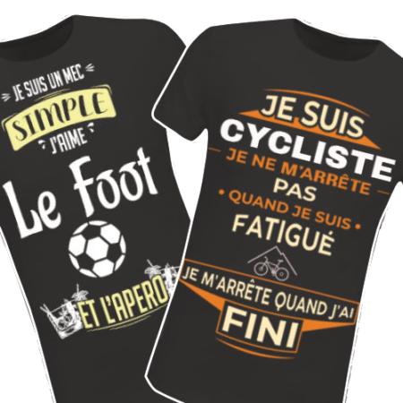 Retrouvez tous nos T-shirts Sport et Loisir