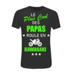 T-shirt blanc kawasaki avec