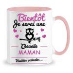 MUG CHOUETTE MAMAN BLANC