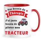 mug therapie tracteur noir